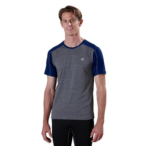 Mens ROAD RUNNER SPORTS Base Runner Short Sleeve Technical Tops - Heather Charcoal/Midnight ...