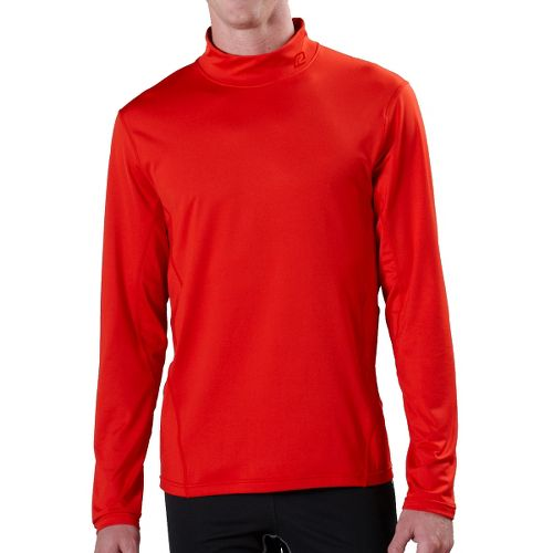 Mens R-Gear Insulator Thermo Mock Long Sleeve No Zip Technical Tops - Fire M