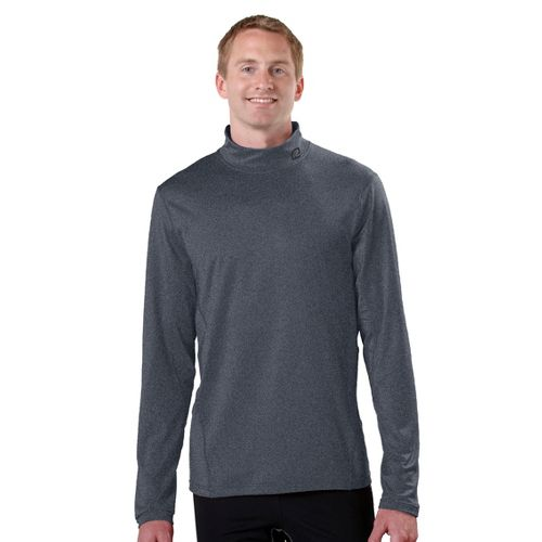 Mens R-Gear Insulator Thermo Mock Long Sleeve No Zip Technical Tops - Heather Charcoal XL ...