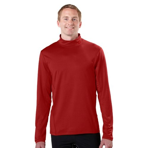 Mens R-Gear Insulator Thermo Mock Long Sleeve No Zip Technical Tops - Hotrod Red M ...