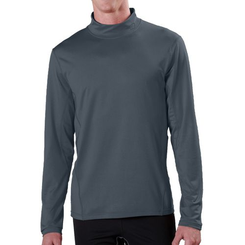Mens R-Gear Insulator Thermo Mock Long Sleeve No Zip Technical Tops - Steel M