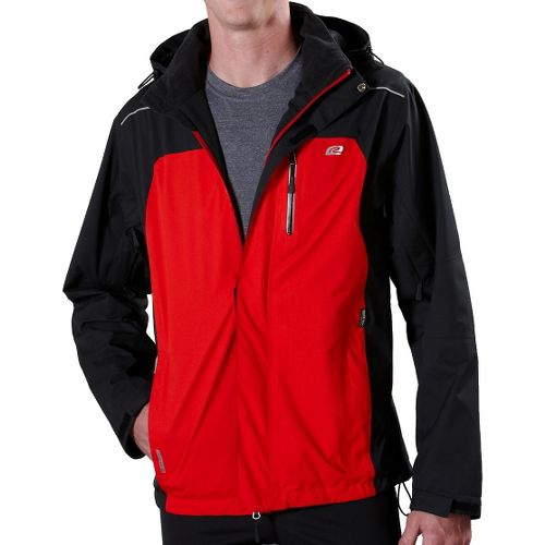 Mens Road Runner Sports Best Defense GORE-TEX Outerwear Jackets - Black/Fire XXL