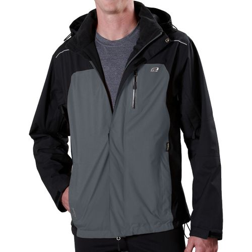 Mens Road Runner Sports Best Defense GORE-TEX Outerwear Jackets - Black/Steel XXL