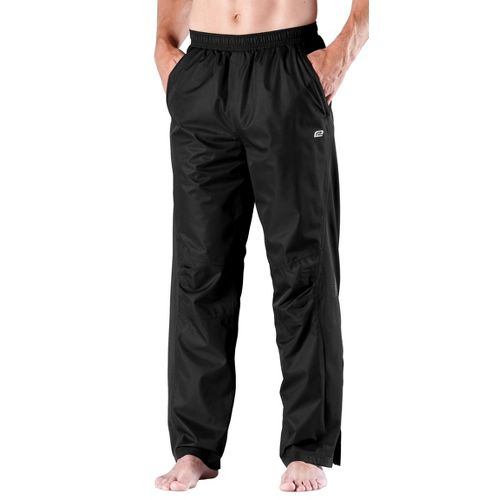 Mens Road Runner Sports On Guard Rain Cold weather Pants - Black M