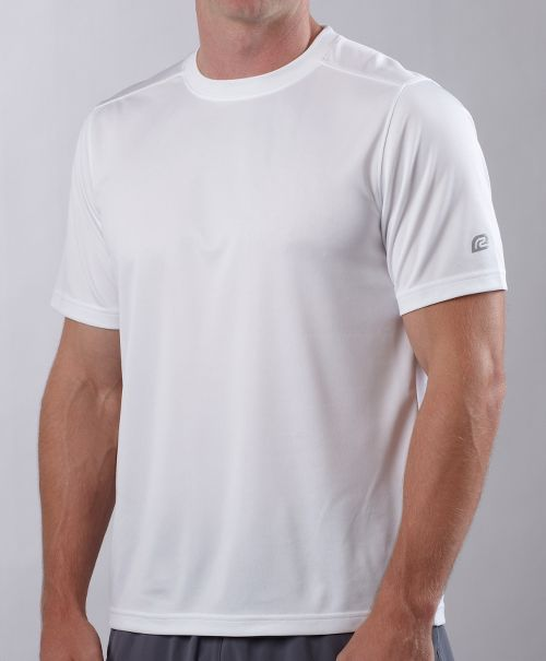 Mens ROAD RUNNER SPORTS Event Tee Short Sleeve Technical Tops - White XL