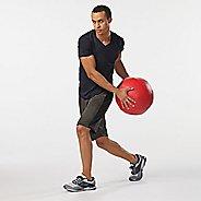 Mens Road Runner Sports All Day V-Neck Short Sleeve Technical Tops - Black M