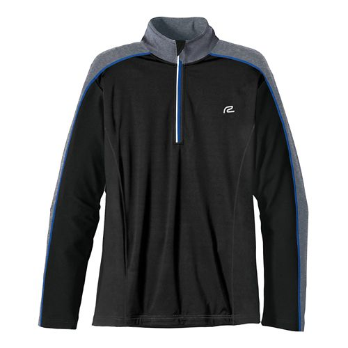Mens R-Gear Chill Out Long Sleeve 1/2 Zip Technical Tops - Black/Cobalt XXL