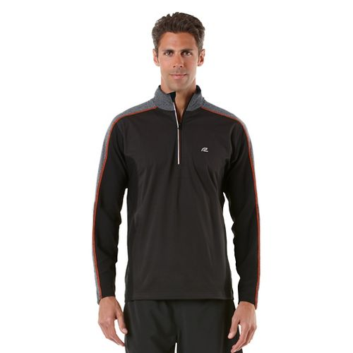 Mens R-Gear Chill Out Long Sleeve 1/2 Zip Technical Tops - Black/Flame XXL