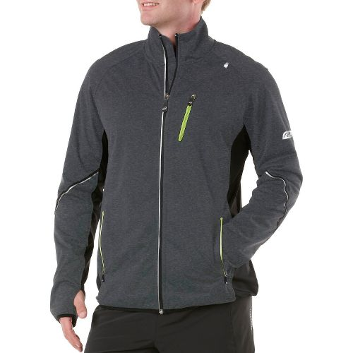 Mens R-Gear Chill Out Running Jackets - Heather Charcoal/Black XL