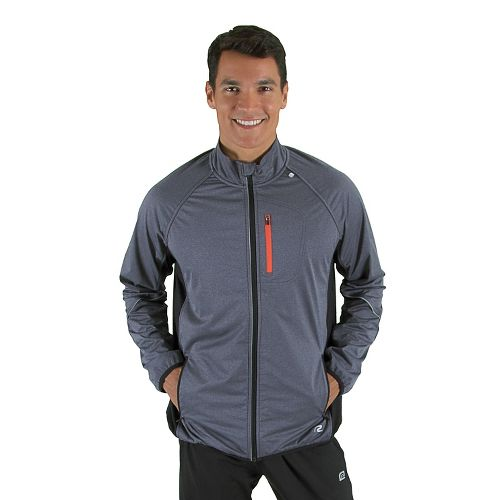 Mens R-Gear Chill Out Running Jackets - Heather Charcoal/Flame S