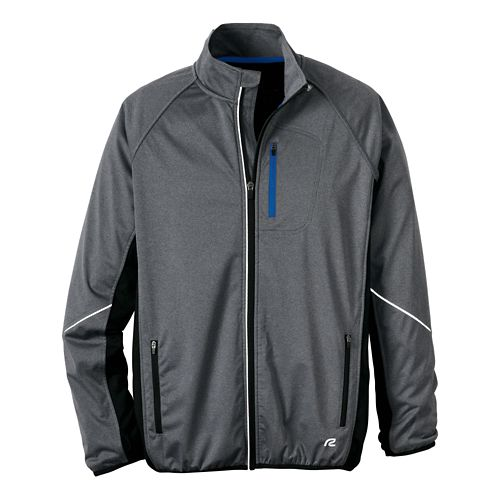Mens R-Gear Chill Out Running Jackets - Heather Charcoal/Cobalt XL
