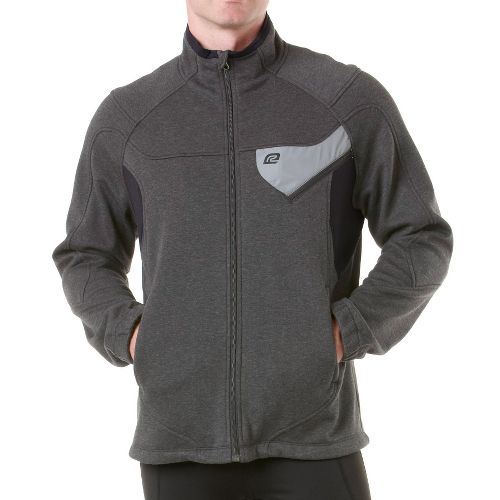 Mens R-Gear Dry-Run Softshell Outerwear Jackets - Heather Charcoal/Black XL