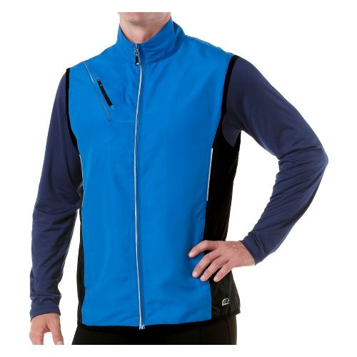 Mens R-Gear Night Watch Running Vests - Electric Blue/Black S