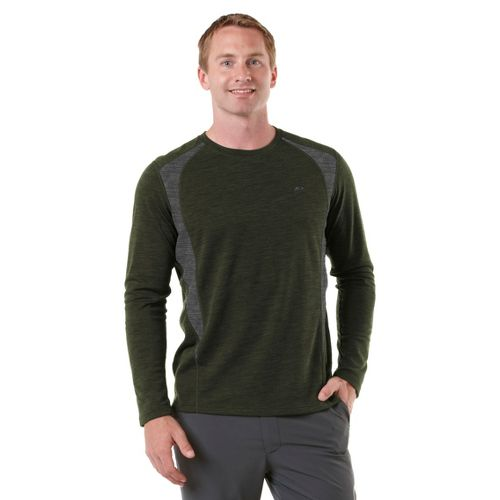 Mens R-Gear Any Weather Wool Long Sleeve No Zip Technical Tops - Pine Needle/Heather Charcoal ...