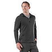 Mens R-Gear Any Weather Wool Hoodie Long Sleeve 1/2 Zip Technical Tops