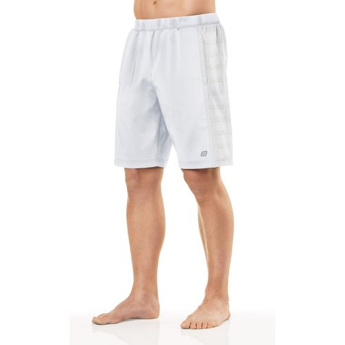 Mens R-Gear Shadow Stripe 2-in-1 Shorts - White L