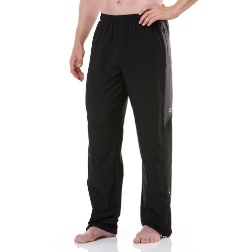 Mens R-Gear Gym-to-Run Warm-Up Pants - Black/Steel XL