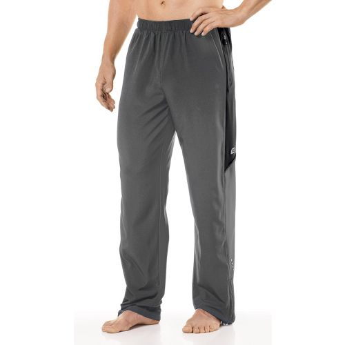 Mens R-Gear Gym-to-Run Warm-Up Pants - Steel/Black M