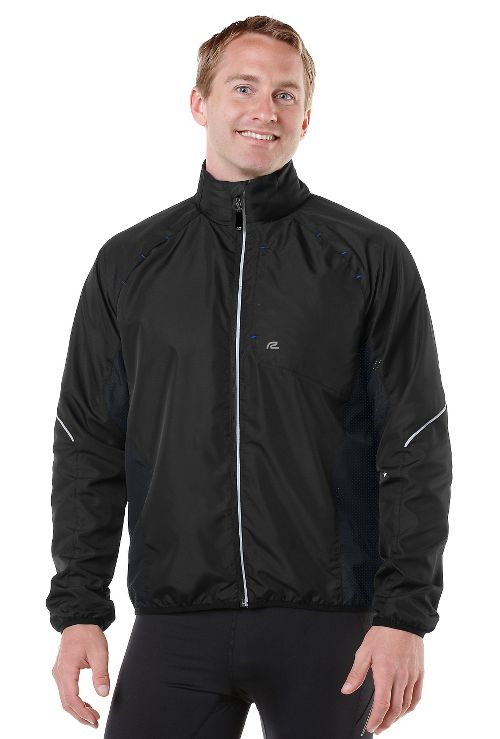 Mens R-Gear Vent It Out Running Jackets - Black/Cobalt XL