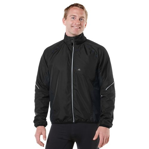 Mens R-Gear Vent It Out Running Jackets - Black/Cobalt L