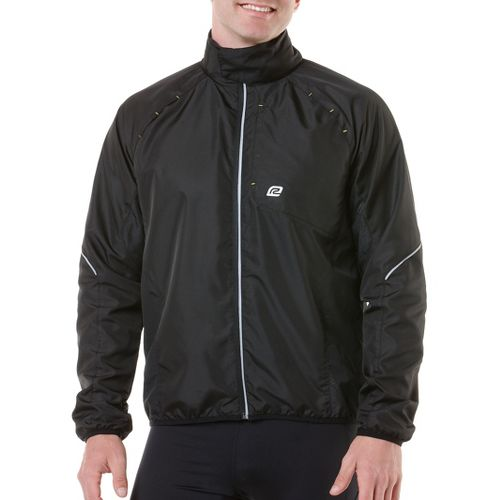 Mens R-Gear Vent It Out Running Jackets - Black/Neon Glow XL