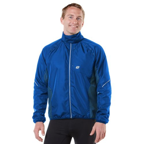 Mens R-Gear Vent It Out Running Jackets - Cobalt/Electrolyte L