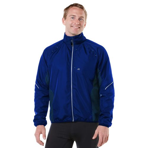 Mens R-Gear Vent It Out Running Jackets - Cobalt/Grass Green XL