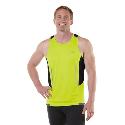 Mens R-Gear Finish Cool Singlets Technical Tops - Electrolyte/Black L