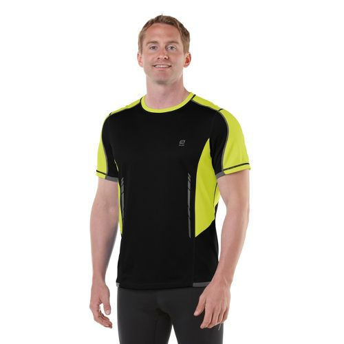 Mens R-Gear Finish Cool Short Sleeve Technical Tops - Black/Electrolyte XL