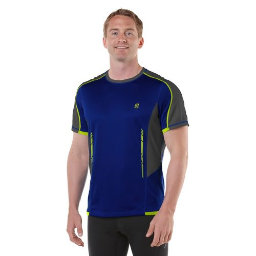 Mens R-Gear Finish Cool Short Sleeve Technical Tops - Cobalt/Steel/Neon Glow L