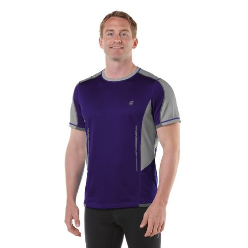 Mens R-Gear Finish Cool Short Sleeve Technical Tops - Deep Purple/Cinderblock L