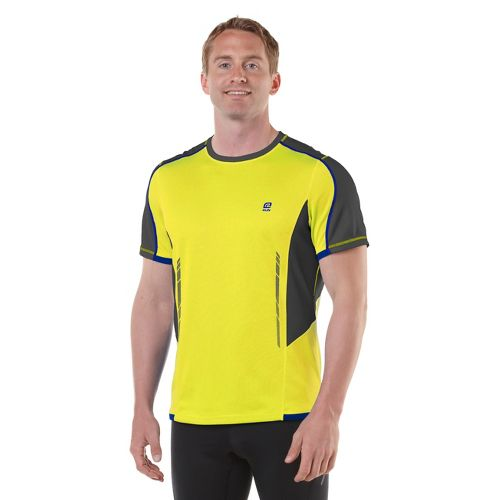 Mens R-Gear Finish Cool Short Sleeve Technical Tops - Neon Glow/Steel/Cobalt M