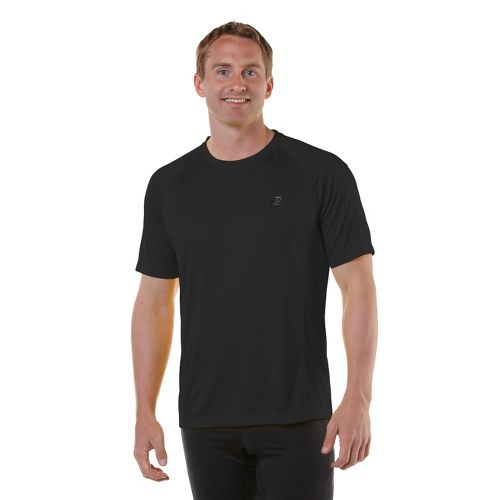 Mens R-Gear Peak Satisfaction Short Sleeve Technical Tops - Black M