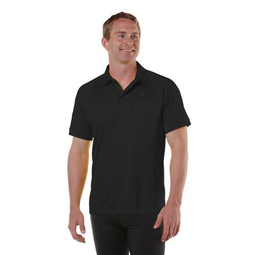 Mens R-Gear Peak Satisfaction Polo Short Sleeve Technical Tops - Black XL
