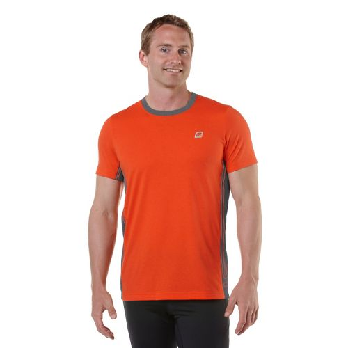 Mens R-Gear Speed Play Short Sleeve Technical Tops - Firecracker Orange/Heather Charcoal L