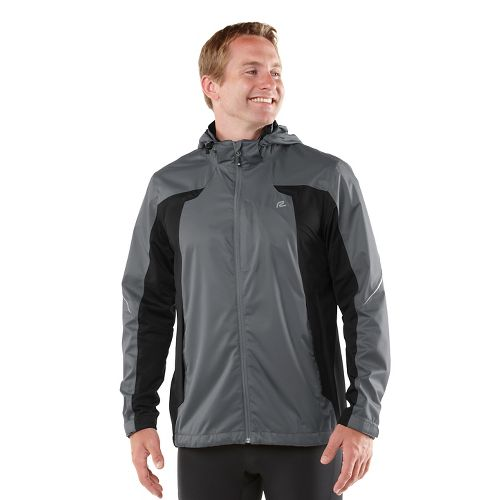 Mens R-Gear On Guard Rain Outerwear Jackets - Steel XXL