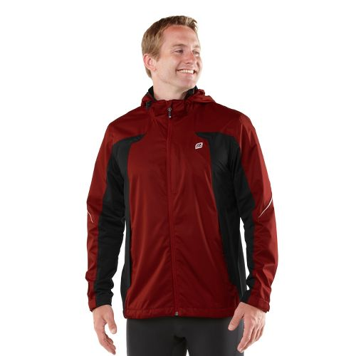 Mens R-Gear On Guard Rain Outerwear Jackets - Vintage Red L