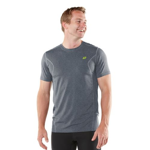 Mens ROAD RUNNER SPORTS Training Day Short Sleeve Technical Tops - Heather Charcoal XL