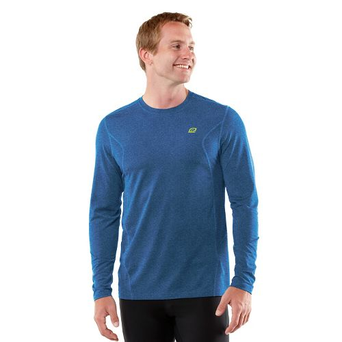 Mens R-Gear Training Day Long Sleeve No Zip Technical Tops - Heather Cobalt XXL