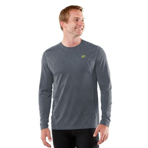 Mens R-Gear Training Day Long Sleeve No Zip Technical Tops - Heather Charcoal L