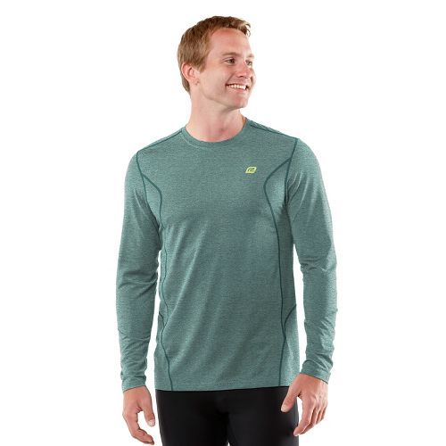 Mens R-Gear Training Day Long Sleeve No Zip Technical Tops - Heather Deep Teal M ...