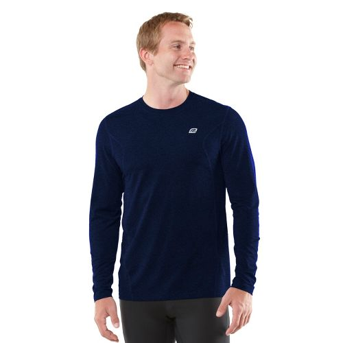 Mens R-Gear Training Day Long Sleeve No Zip Technical Tops - Heather Midnight Blue L ...
