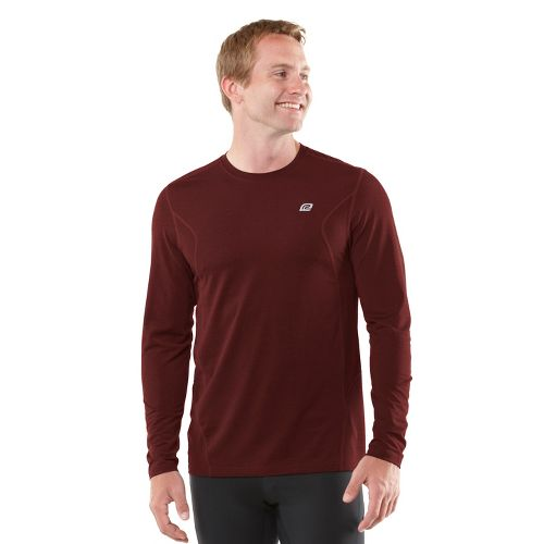 Mens R-Gear Training Day Long Sleeve No Zip Technical Tops - Heather Vintage Red L ...