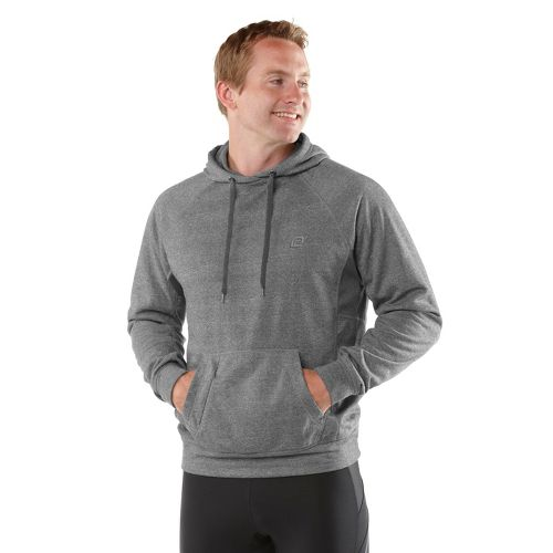 Mens R-Gear Training Day Hoodie Long Sleeve No Zip Technical Tops - Heather Charcoal L ...