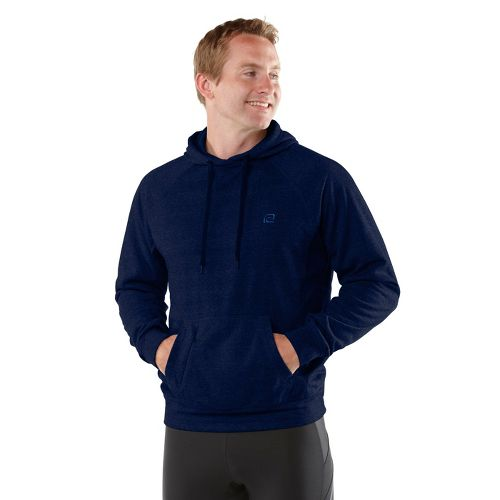 Mens R-Gear Training Day Hoodie Long Sleeve No Zip Technical Tops - Heather Midnight Blue ...