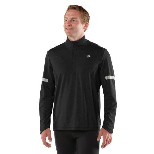 Mens ROAD RUNNER SPORTS Reaction Long Sleeve 1/2 Zip Technical Tops - Black S