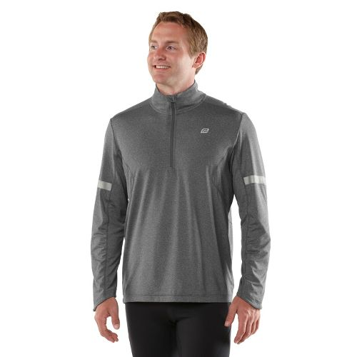 Mens ROAD RUNNER SPORTS Reaction Long Sleeve 1/2 Zip Technical Tops - Heather Charcoal S ...