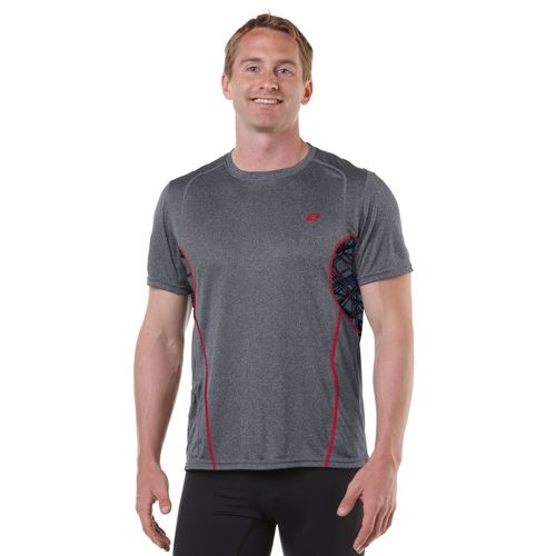 Mens R-Gear Back At Ya Short Sleeve Technical Tops - Heather Charcoal M