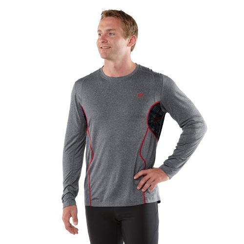 Mens R-Gear Back At Ya Long Sleeve No Zip Technical Tops - Heather Charcoal L ...
