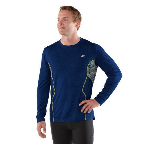 Mens R-Gear Back At Ya Long Sleeve No Zip Technical Tops - Heather Midnight Blue ...